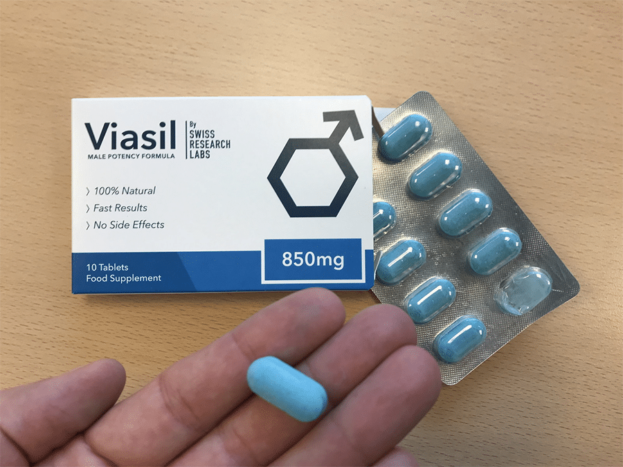 Viasil pill and its box